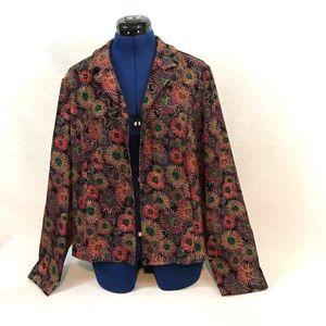 CLOSEOUT SALE  Floral Stretch Blazer Jacket (H)